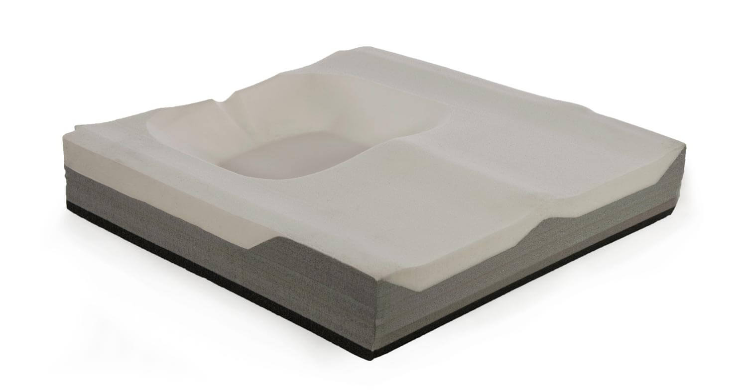 Multi-Layered, Contoured Foam Base